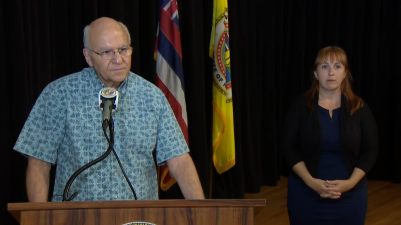 Honolulu Mayor Rick Blangiardi said while daily case counts have declined in recent weeks...