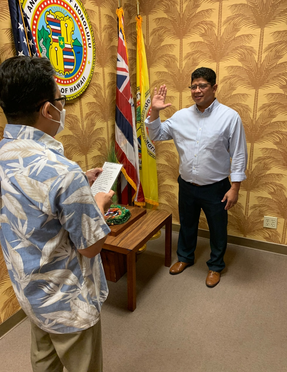 Local comedian Augie T also filed papers to run for city council on Tuesday.