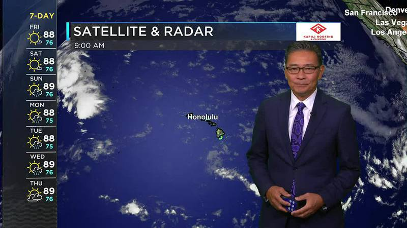 Morning Weather Forecast from Hawaii News Now - Friday, July 23, 2021