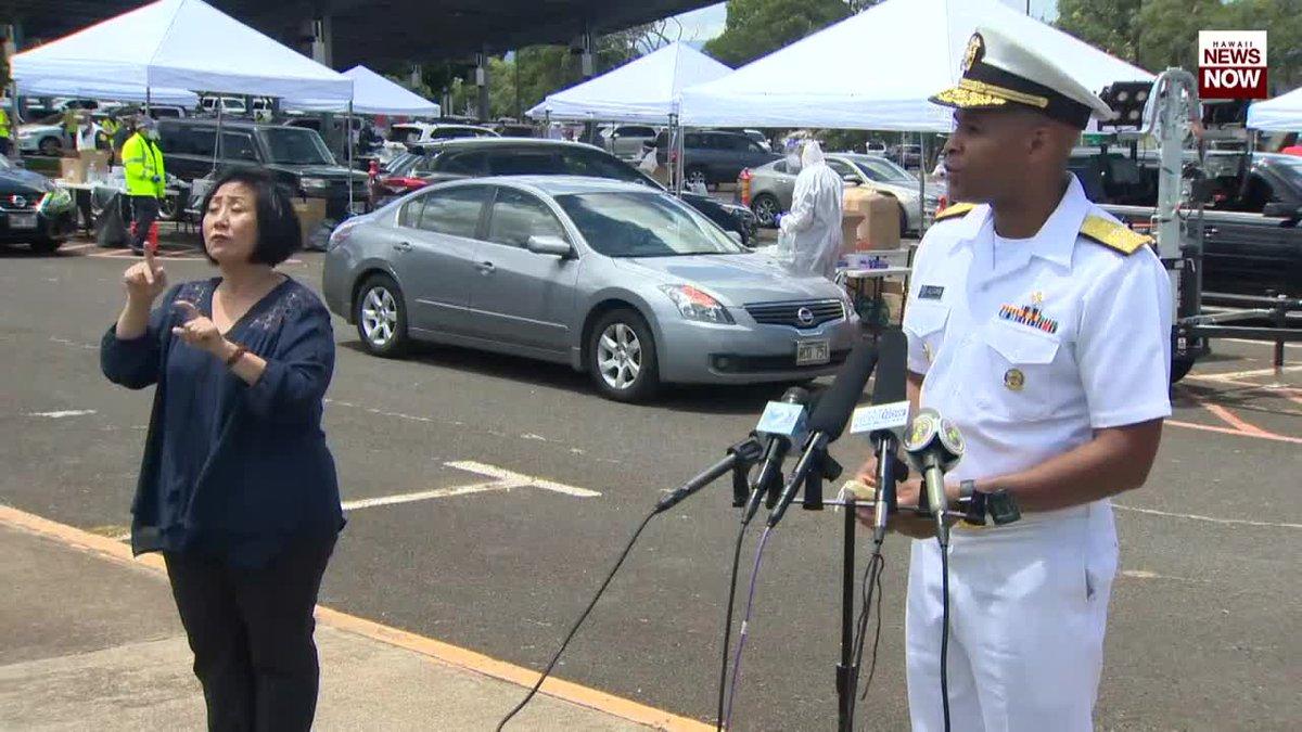 US Surgeon General Jerome Adams speaks about surge testing