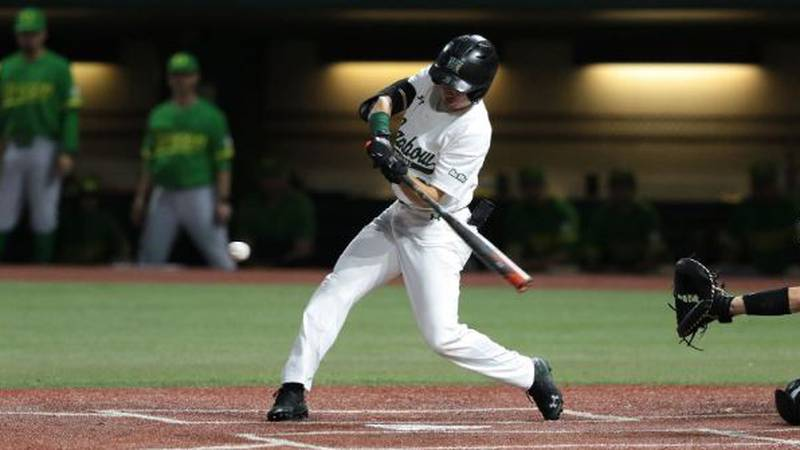 The Rainbow Warriors (9-5) won the first game of the series for the first time this season...