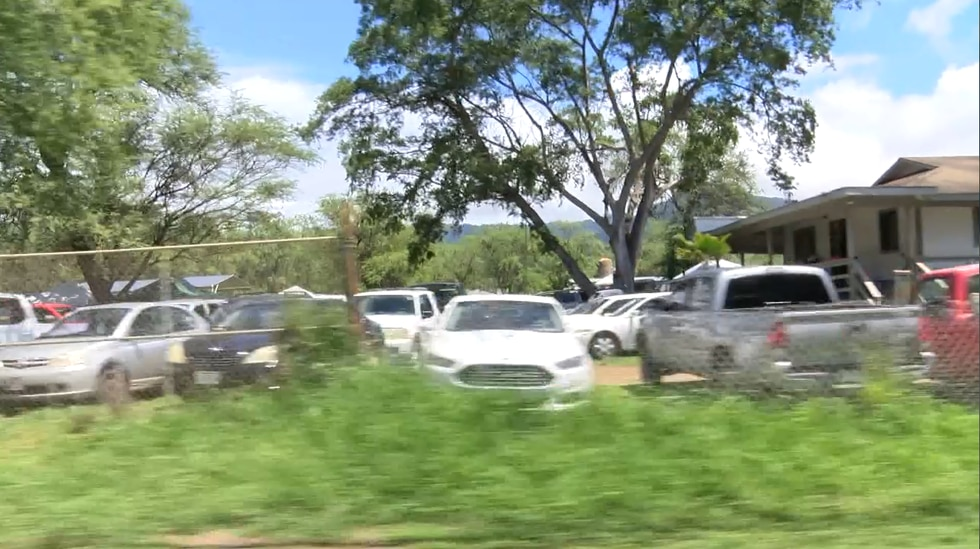 Scores if not hundreds of people congregated at this property in Waianae. A local lawmakers...