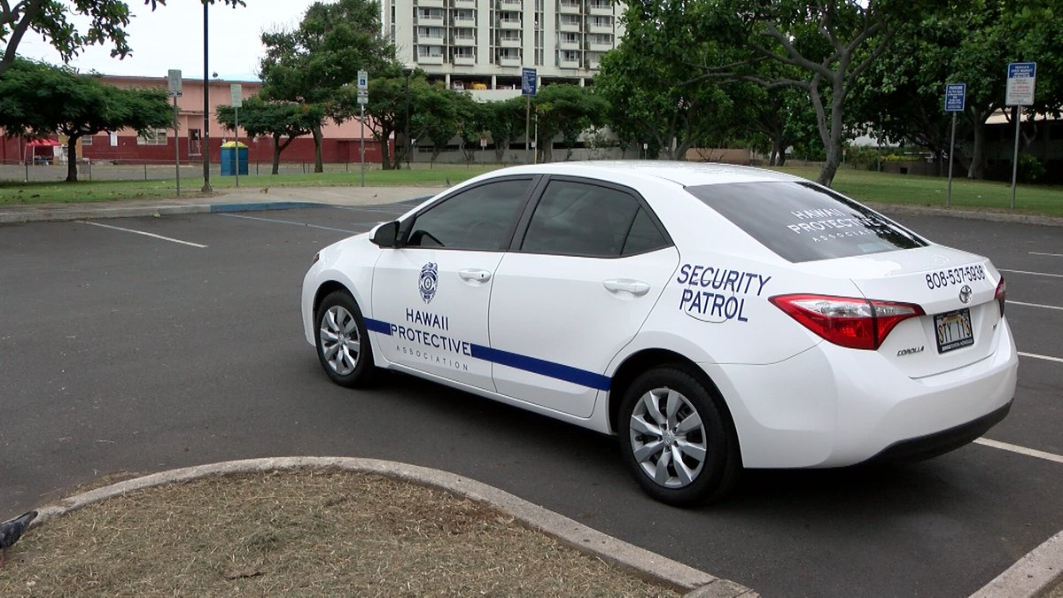 The city hired Hawaii Protective Association to provide around-the-clock security for 9...