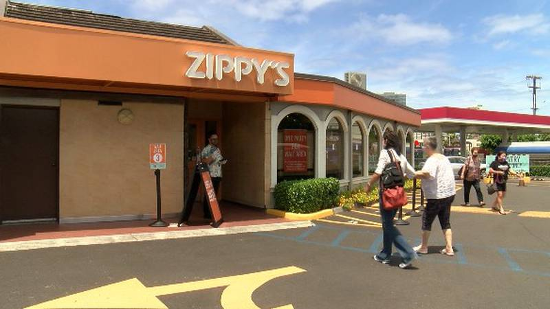 Zippy's Makiki reopened its dining room on Monday with new safety protocols in place.