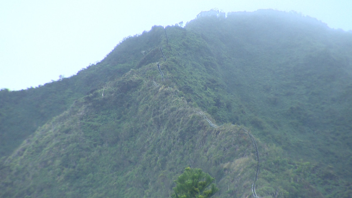 """Haiku Stairs also known as """"Stairway to Heaven."""""""