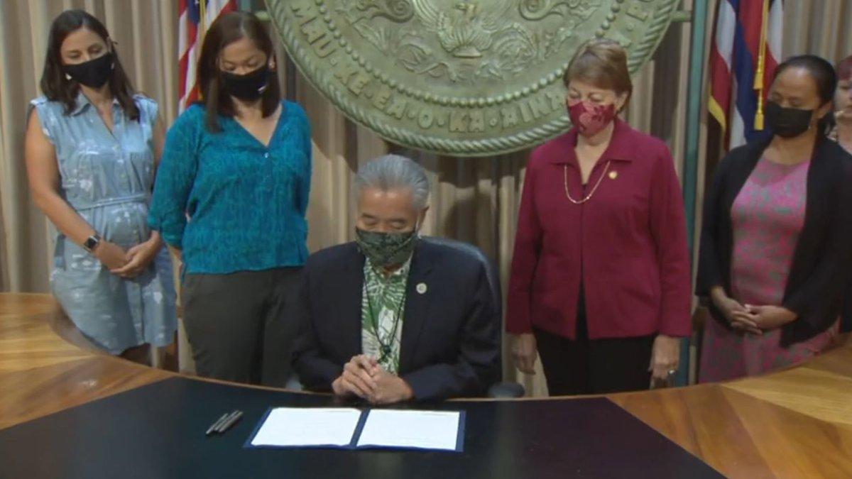 Gov. Ige signed the bill Monday.