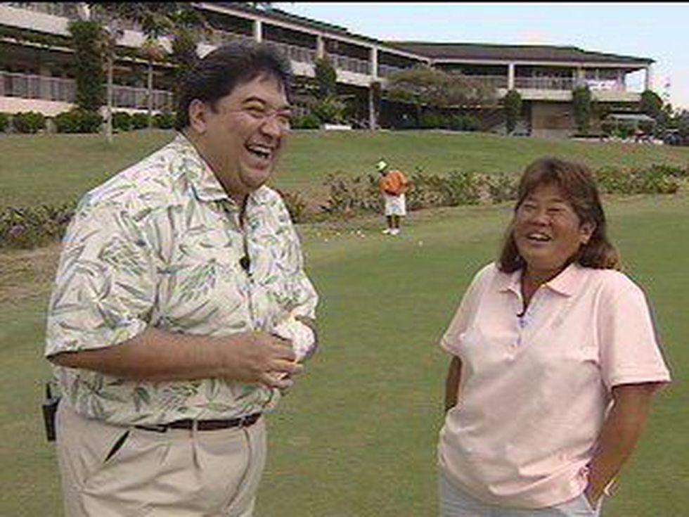 KHNL News 8's Russell Yamanoha and Lori Fujikawa, Tadd's mom