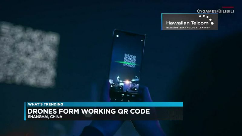 What's Trending: The 1,500 drone QR code that lit up the sky