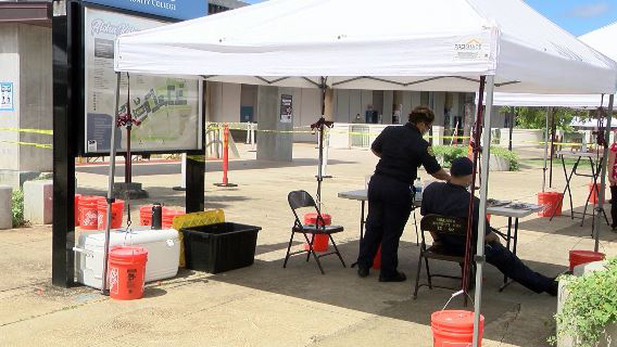 The POD at LCC was staffed by HFD and National Guard members.