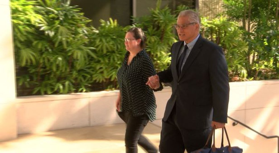 Louis and Katherine Kealoha walk into the federal courthouse Monday as the third week of their...