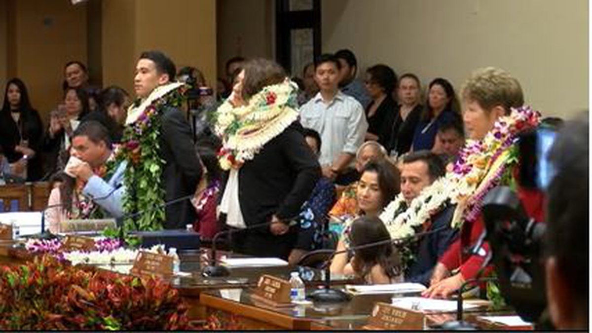The new Honolulu City Council was sworn in Wednesday with just eight of nine members and no...