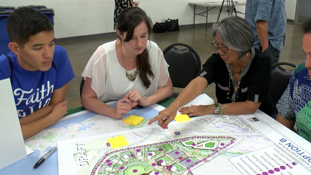 Neighbors were asked for their ideas on the re-development at a Master Planning Community...