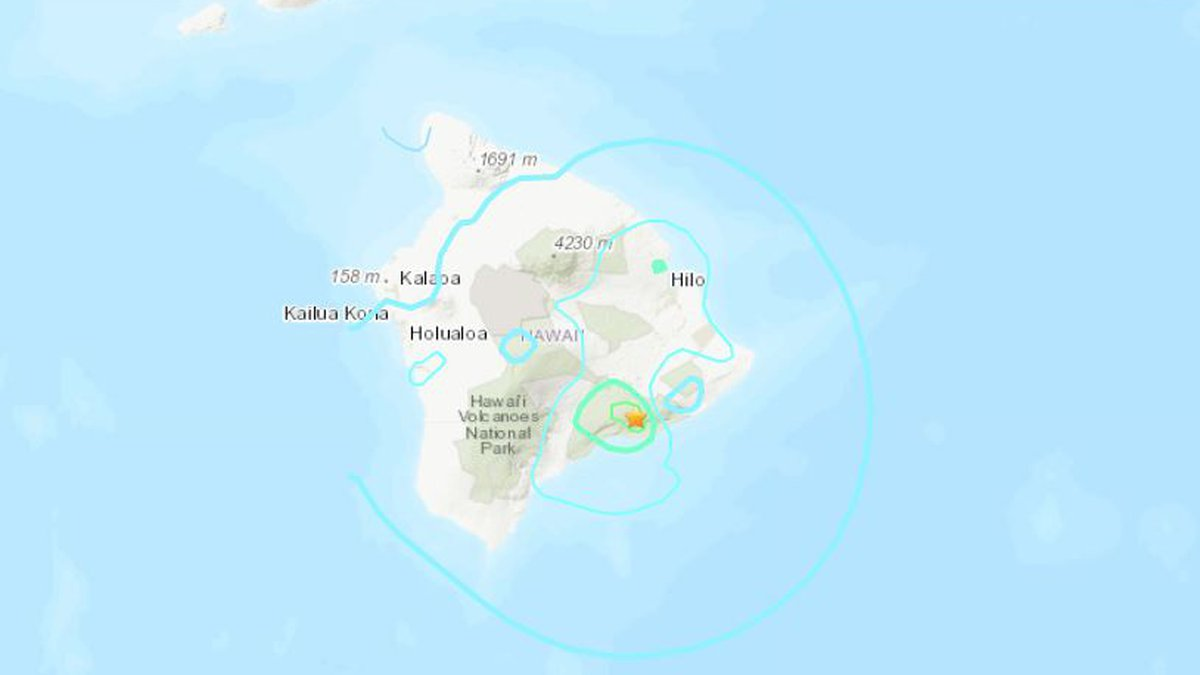A 5.5 magnitude earthquake struck an area of the Big Island, but there was no tsunami threat...