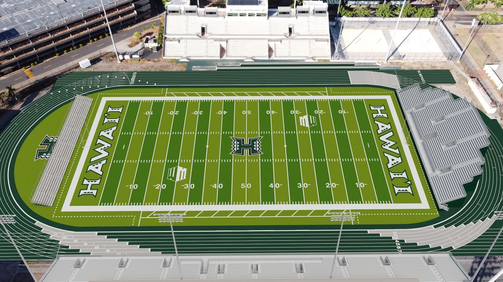 The University of Hawaii Athletics Department released the first renderings of the modified...