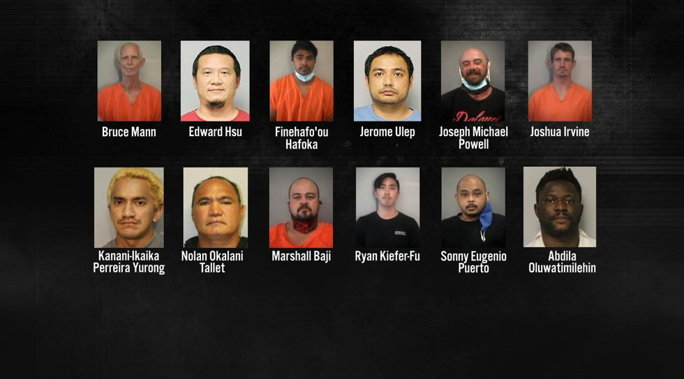 Law enforcement officials announce arrests in Operation Keiki Shield