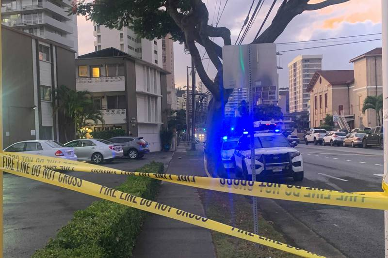 Police are investigating a stabbing in Makiki on Sunday.