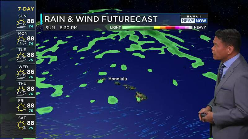 Winds could be light enough for afternoon sea breezes to develop.