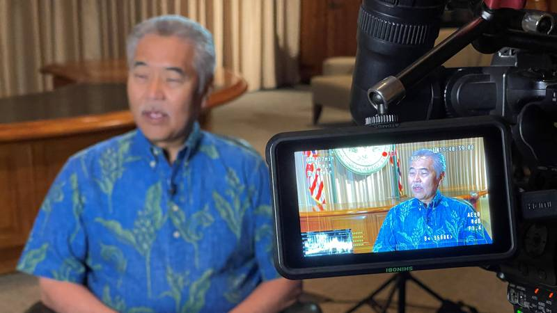 Governor Ige speaks with Hawaii News Now Thursday.