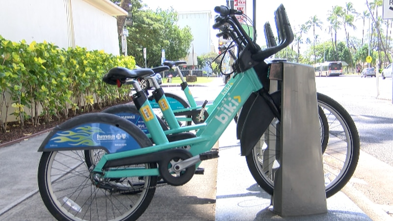 The Executive Director of Bikeshare Hawaii, Todd Boulanger says Biki had 135 stations and about...