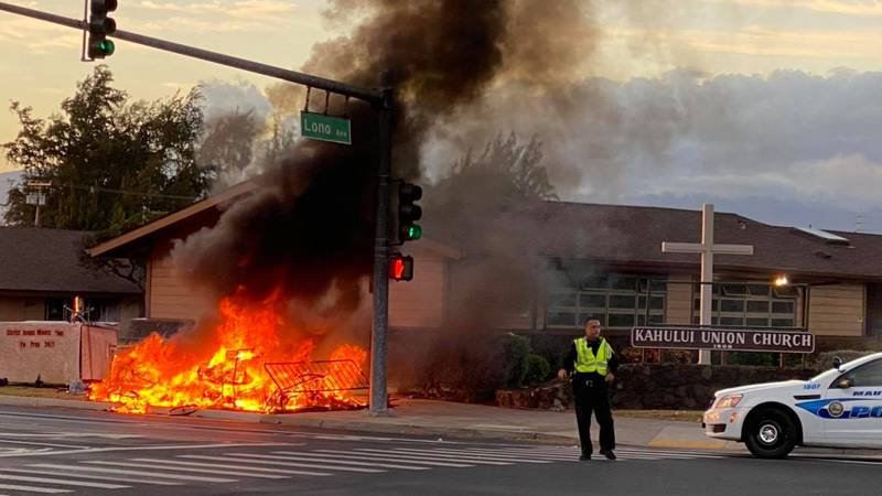 First responders raced to the corner of Lono and Kamehameha Avenues around 5:45 a.m. Monday to...