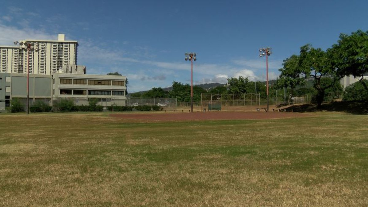 Kamamalu Park sits on the outskirts of Downtown Honolulu.