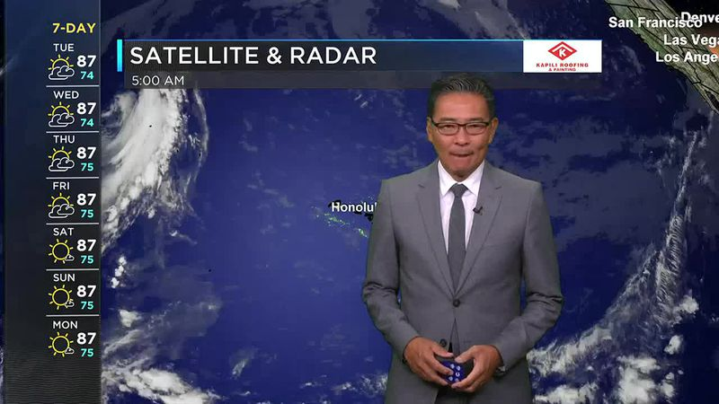 Morning Weather Forecast from Hawaii News Now - Tuesday, June 8, 2021