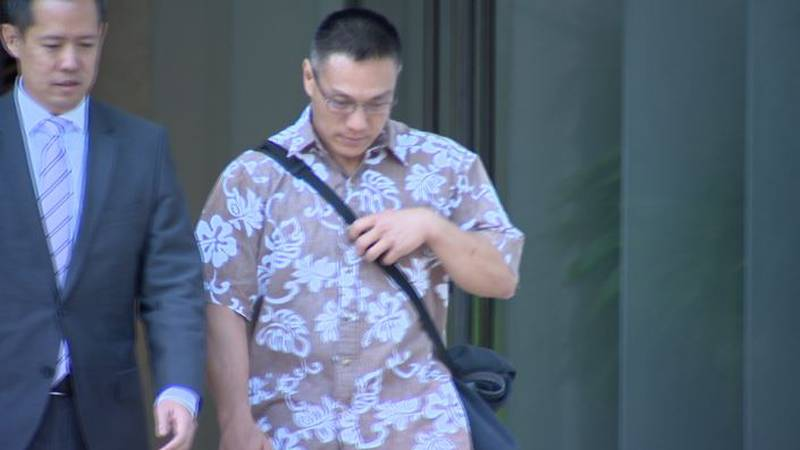 Bobby Nguyen and his attorney, Randy Hironaka leave federal court