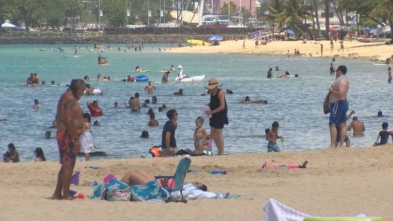 Thousands of people made their way to Ala Moana Beach Park to celebrate the Fourth of July on...