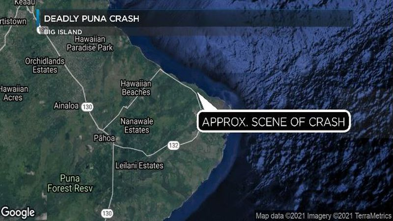 Approximate location of the crash in Puna