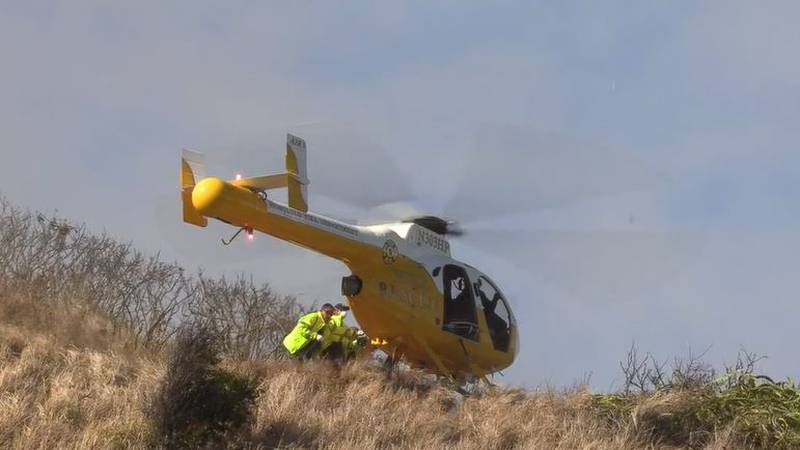 HFD rescues an injured hiker from the Lanikai Pillbox Trail.