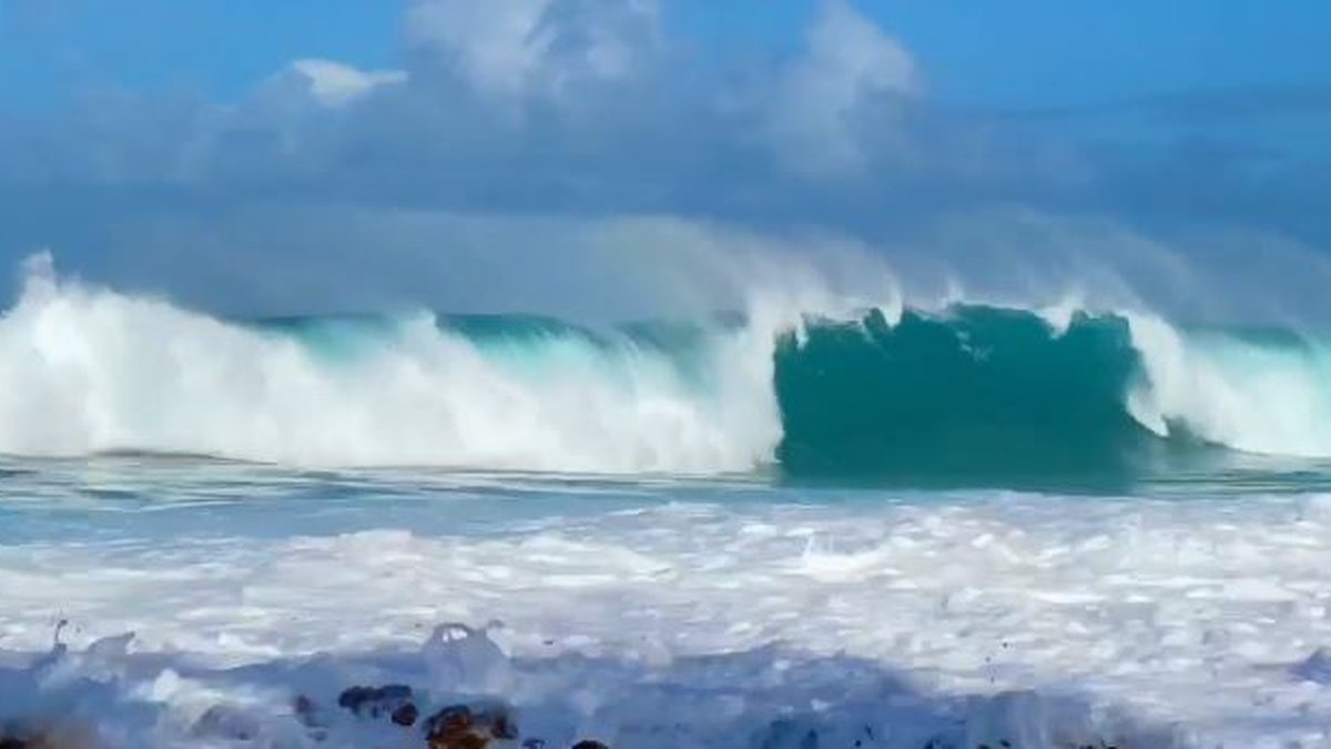 Oahu's North Shore saw monster surf on New Year's Eve.