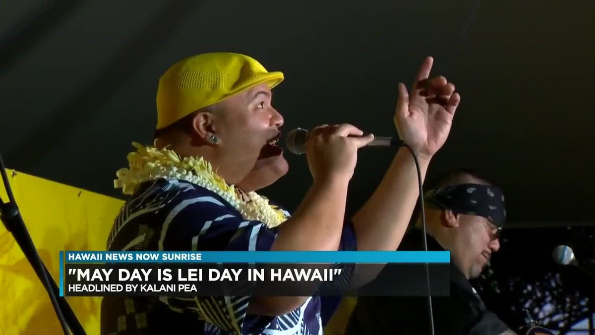 Fresh off his Grammy win, Kalani Pe`a is now preparing for his show, ?May Day is Lei Day in...