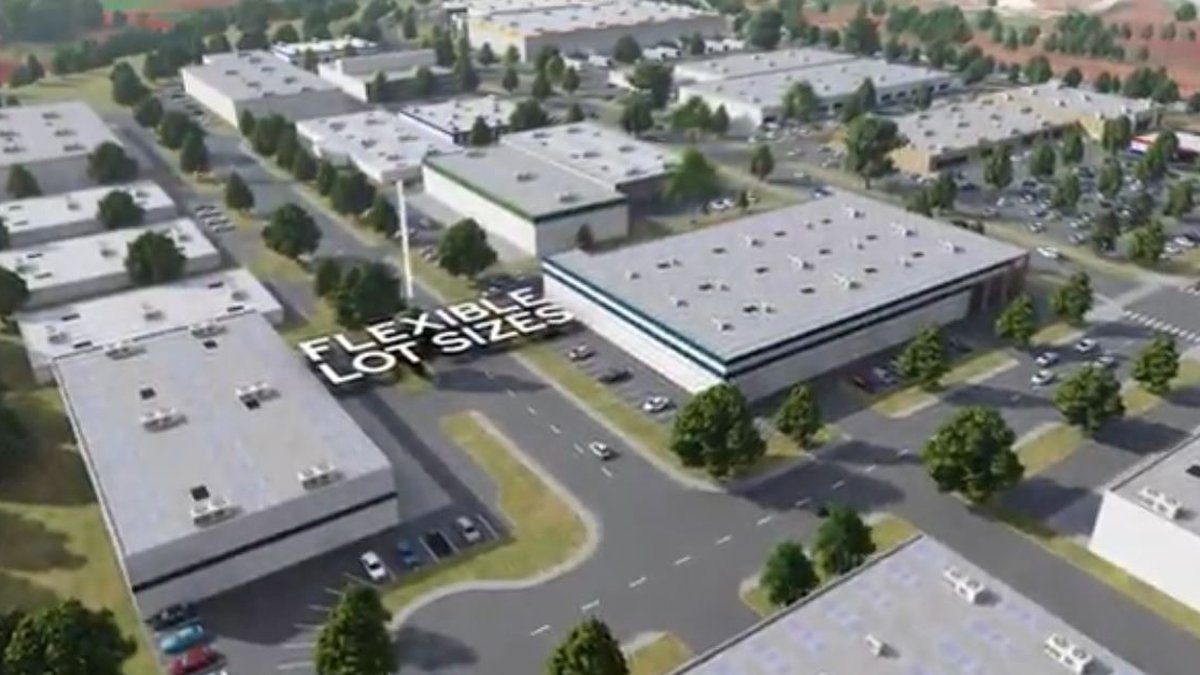 Rendering of the planned business park