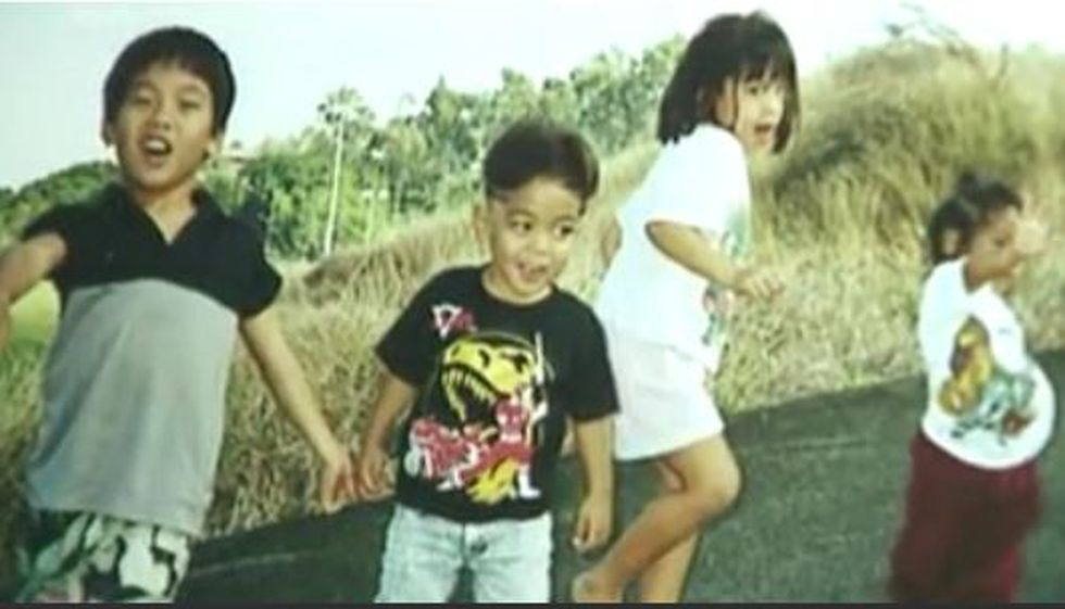 Peter Boy Kema and his siblings in 1996. Picture courtesy the family