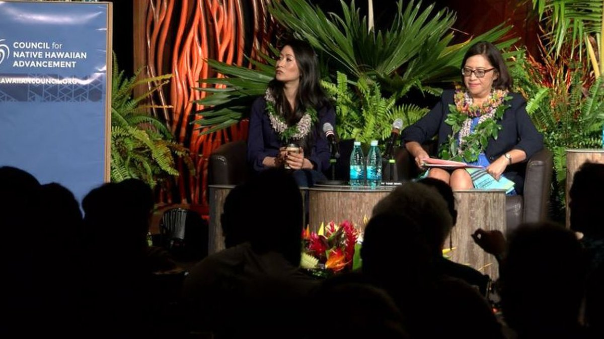OHA candidates for Oahu seat, Kalei Akaka and Esther Kiaaina share a common connection. (Image:...
