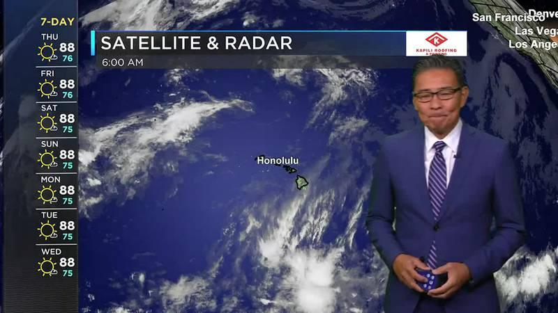 Hawaii News Now Sunrise Weather Forecast: Thursday, July 29, 2021