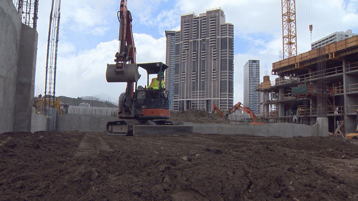 File photo of construction in Honolulu