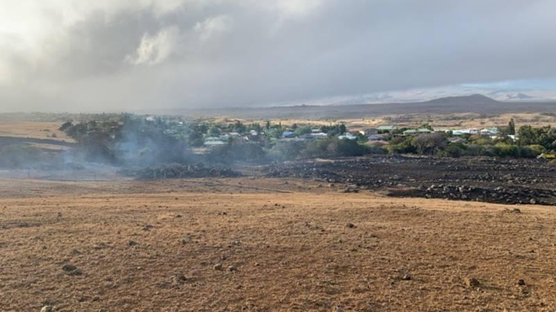 A brush fire in Waimea on the Big Island earlier this summer.