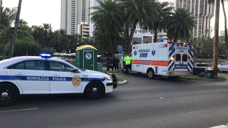 Emergency crews were on scene around 4:30 p.m. Saturday.