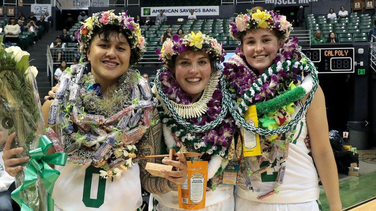 Seniors Julissa Tago, Savannah Reier, and Courtney Middap, were honored following Saturday's...