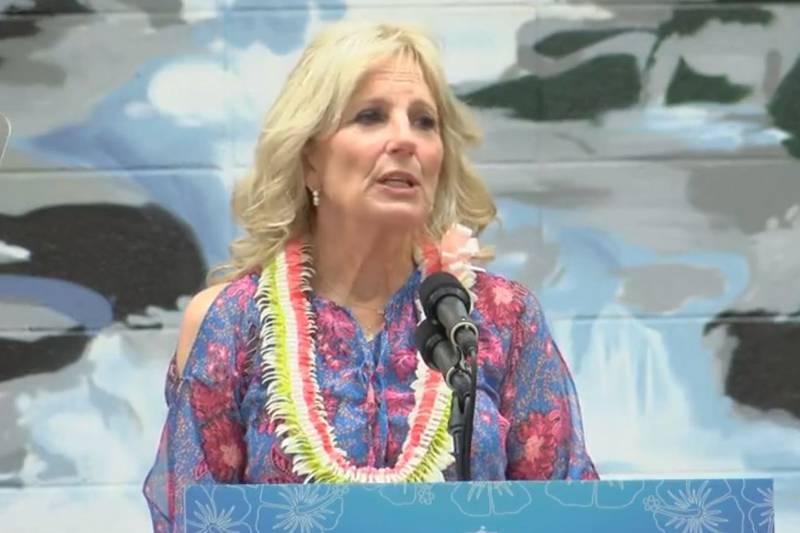 FLOTUS spoke to elected leaders and educators at Waipahu High Sunday.