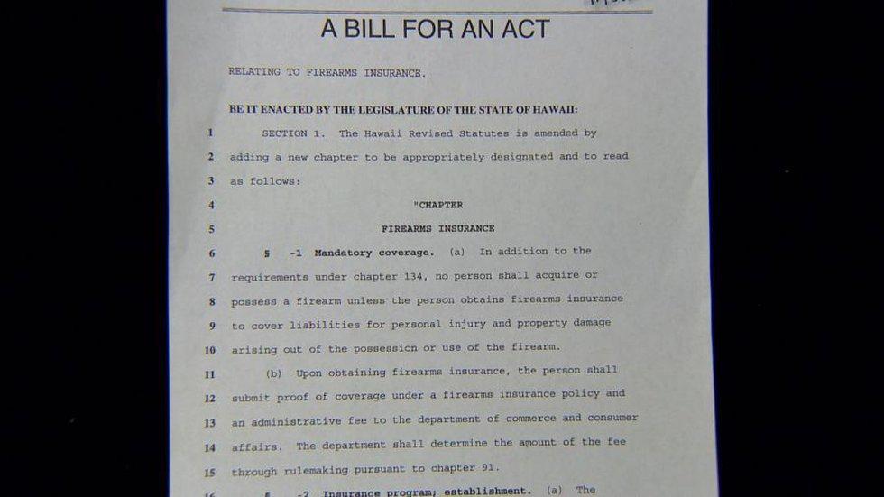 Bill proposing gun insurance, firearm renewals every 5 years