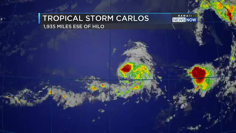 Carlos is expected to become a tropical depression by Tuesday.