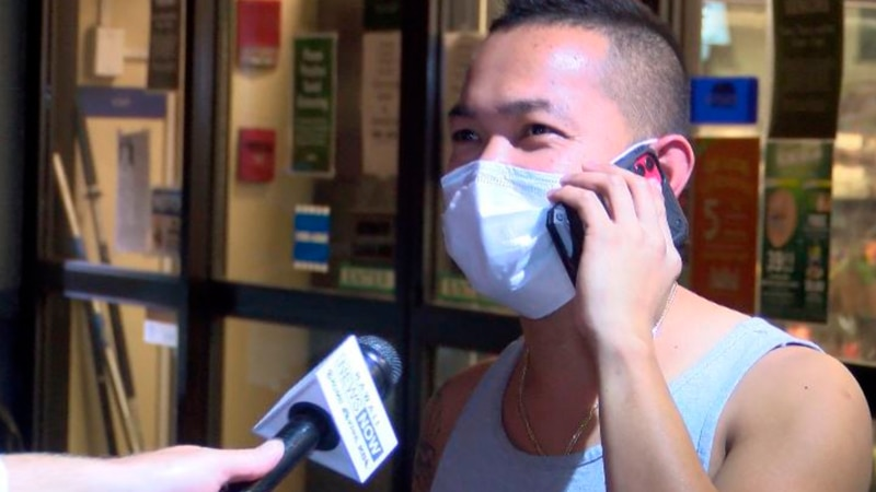 A shopper at Foodland says he started wearing a mask since the outbreak began.