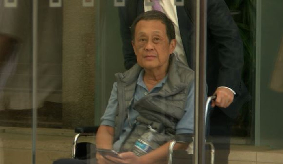 Retired District Court Judge David Lo testifies before the federal grand jury investigating...