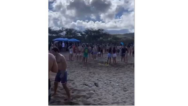 Another massive gathering took place on Oahu, which caught the attention of authorities.