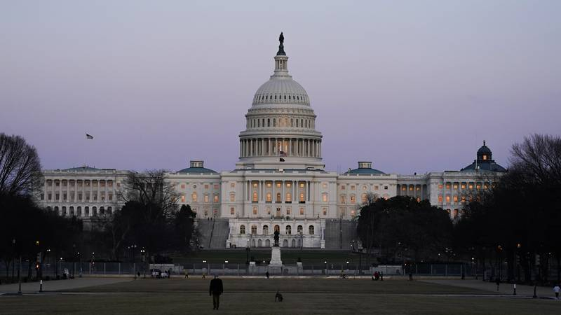 FILE - The U.S. Capitol building is shown after sunset Thursday, March 4, 2021, in Washington.