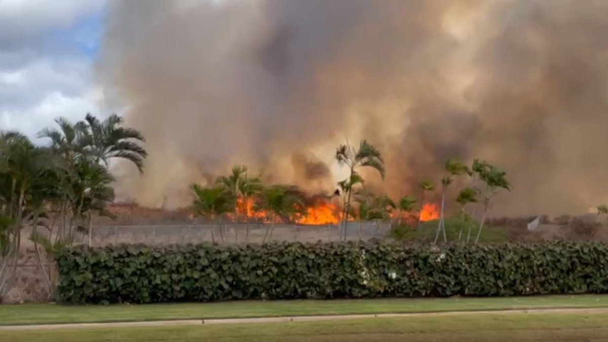 Firefighters responded to this brush fire Friday in Ko Olina.