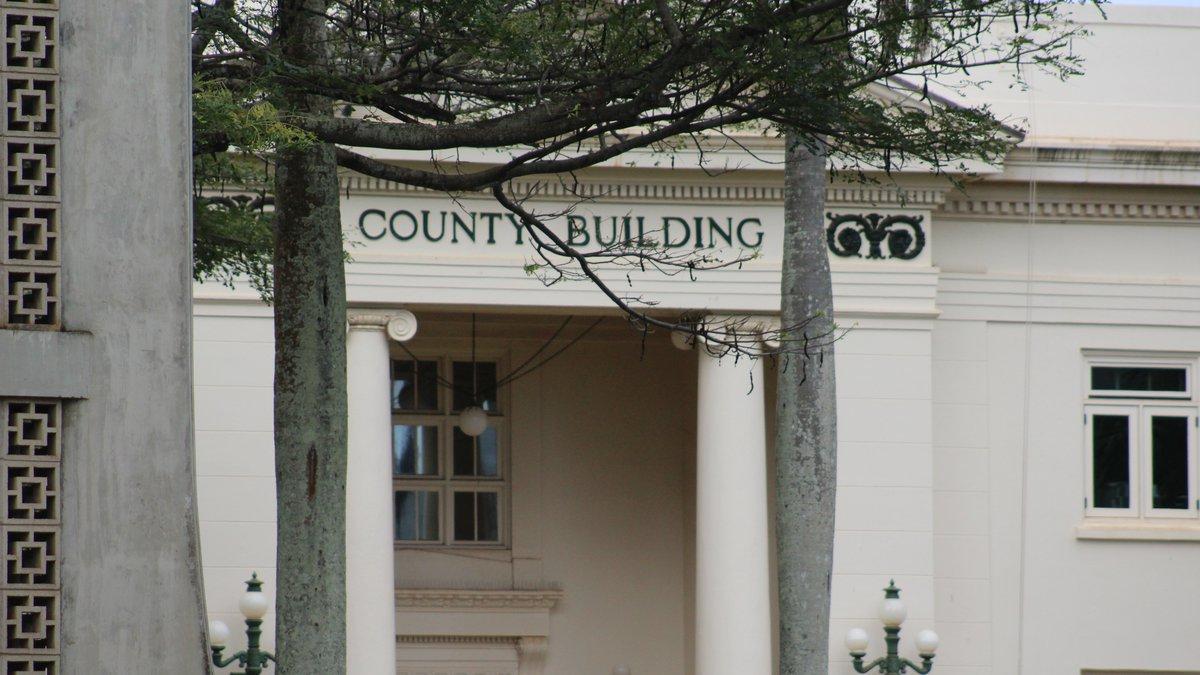 Kauai County Building, Lihue, Kauai.