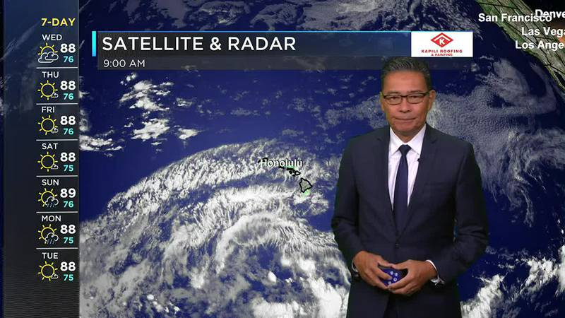 Morning Weather Forecast from Hawaii News Now - Wednesday, July 21, 2021